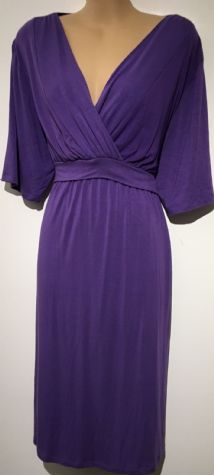 MAMA FEELS GOOD PURPLE JERSEY NURSING DRESS SIZE XXL UK 16/18